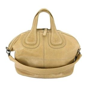 100% Auth Givenchy Beige Nightingale 2way Bag